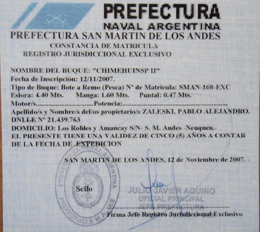 Argentina fly fishing outfitter and guide service since 1999 for De fishing license