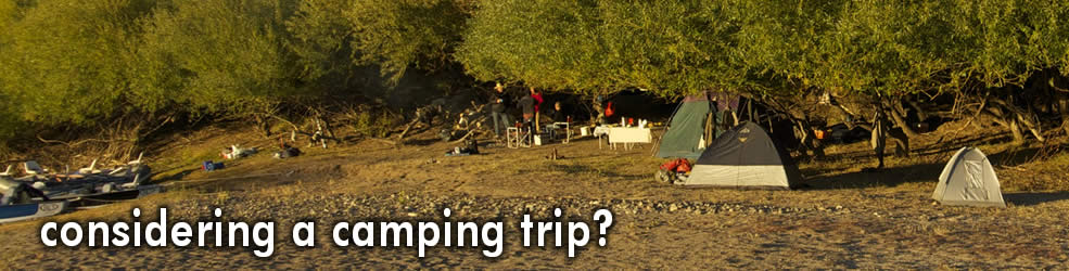 from 1 to 3 nights floating camping trips